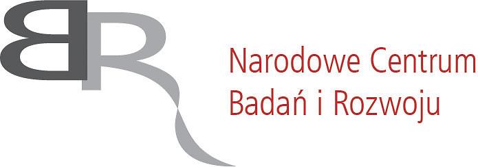 NCBIR logo z czerwonym napisem
